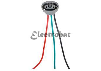 Conector para alternadores Denso, Mitsubishi con 3 cables