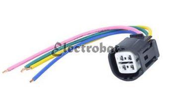 Conector para alternadores Bosch, Delco, Denso, Misubishi con 4 cables