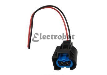 Conector para alternadores Bosch, Valeo en aplicaciones Audi, BMW, Mercedes con 2 cables