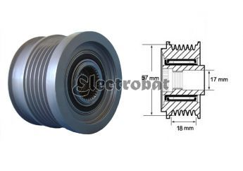 Clutch Pulley for Opel and Saab